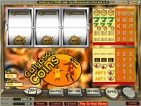 Calypso Coins Money Slot Game made by Vegas Technology