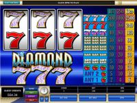 Diamond Sevens Money Slot Game made by Microgaming