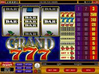 Grand 7's Money Slot Game made by Microgaming