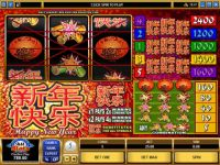Happy New Year Money Slot Game made by Microgaming