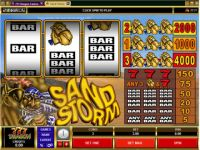 Sand Storm Money Slot Game made by Microgaming