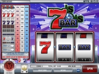 Sevens and Bars Money Slot Game made by Rival