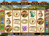 Spirit Of The Inca Money Slot Game made by RTG