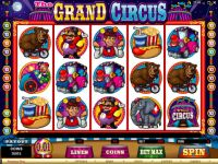 The Grand Circus Money Slot Game made by Microgaming
