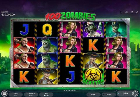 100 Zombies Real Slot made by Endorphina