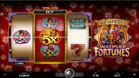 108 Heroes Multiplier Fortune Real Slot made by Microgaming