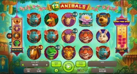 12 Animals Real Slot made by Booongo