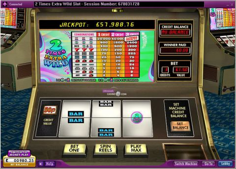 2 Times Extra Wild Real Slot made by 888