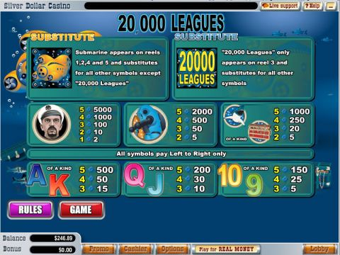 20 000 Leagues Real Slot made by WGS Technology