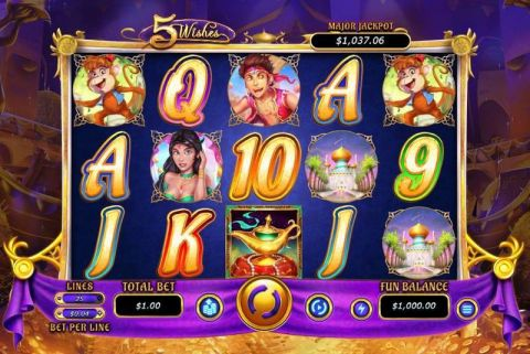 5 Wishes Real Slot made by RTG