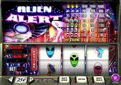 Alien Alert Real Slot made by PlayTech