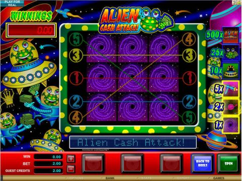 Alien Cash Attack Real Slot made by Microgaming