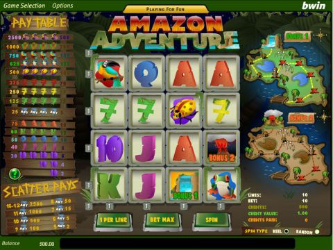 Amazon Adventure Real Slot made by Amaya
