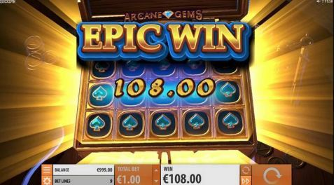 Arcane Gems Real Slot made by Quickspin