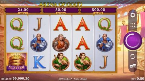 Arena of Gold Real Slot made by Microgaming