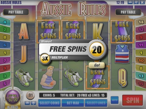 Aussie Rules Real Slot made by Rival
