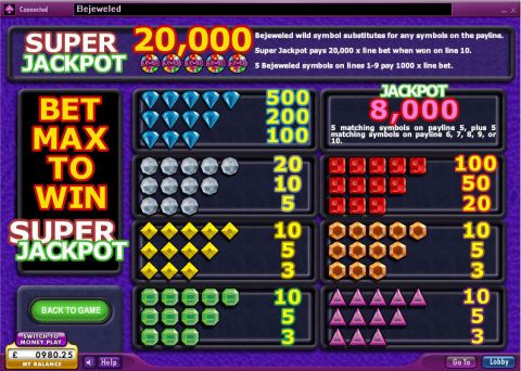 Bejeweled Real Slot made by 888