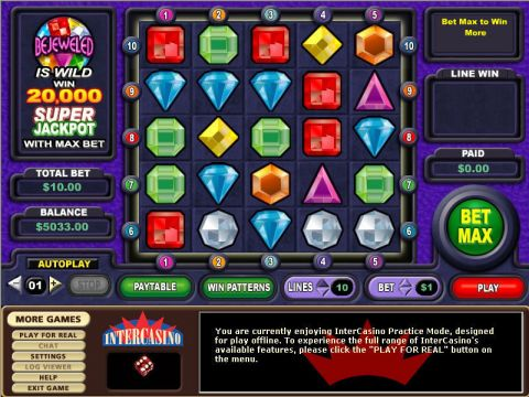 Bejeweled Real Slot made by CryptoLogic