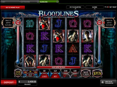 Bloodlines Real Slot made by Genesis