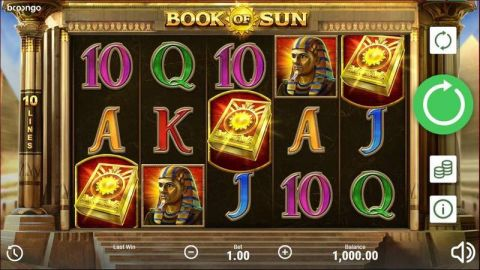 Book of Sun Real Slot made by Booongo