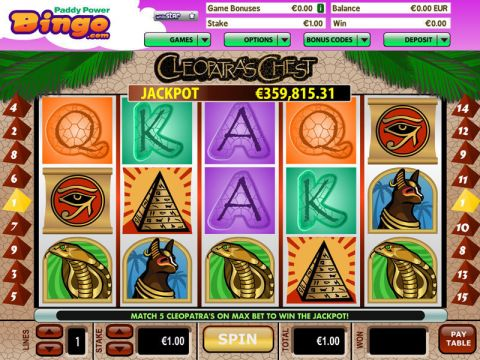 Cleopatras Chest Real Slot made by Virtue Fusion