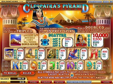 Cleopatra's Pyramid Real Slot made by WGS Technology