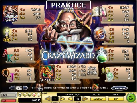 Crazy Wizard Real Slot made by GTECH