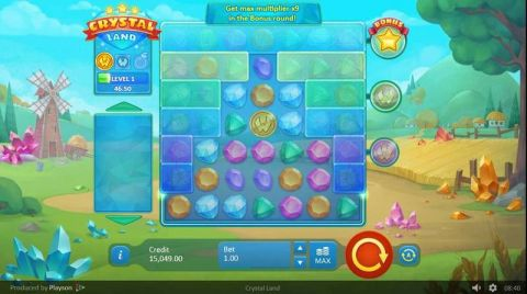 Crystal Land Real Slot made by Playson