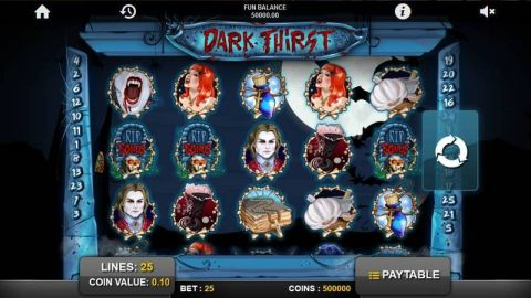 Dark Thirst Real Slot made by 1x2 Gaming