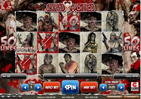 Deadworld Real Slot made by 1x2 Gaming