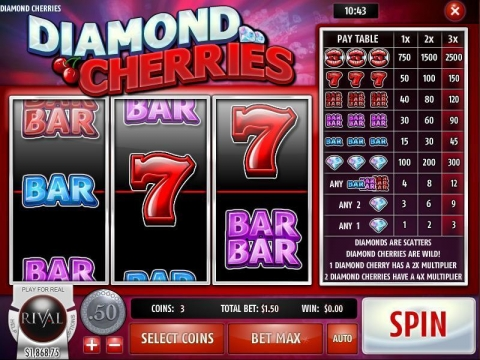 Diamond Cherries Real Slot made by Rival