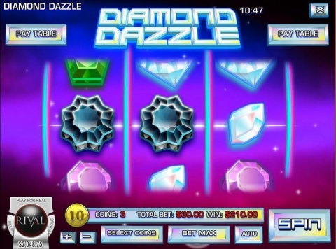 Diamond Dazzle Real Slot made by Rival