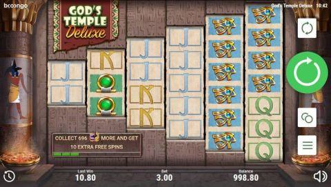 Gods Temple Deluxe Real Slot made by Booongo