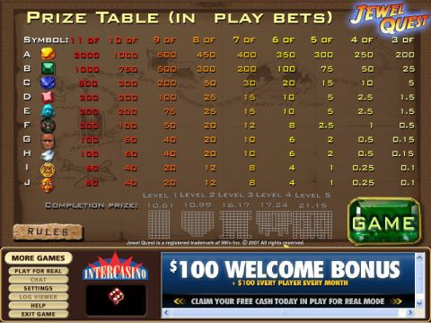 Jewel Quest Real Slot made by CryptoLogic