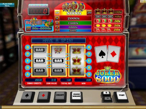 Joker 8000 Real Slot made by Microgaming
