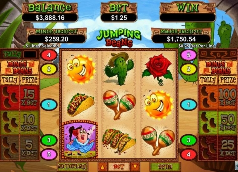 Jumping Beans Real Slot made by RTG