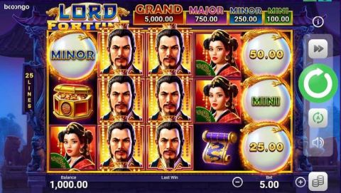 Lord Fortune Real Slot made by Booongo