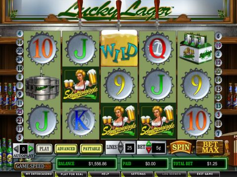 Lucky Lager Real Slot made by CryptoLogic