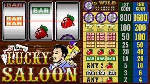 Lucky Saloon Real Slot made by Microgaming