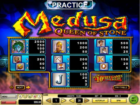 Medusa Real Slot made by GTECH
