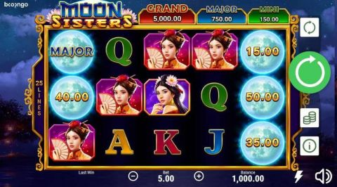 Moon Sisters Real Slot made by Booongo