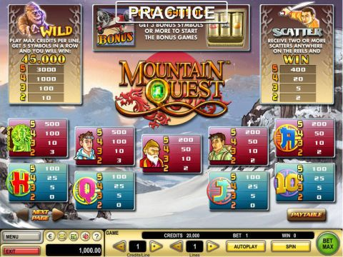 Mountain Quest Real Slot made by GTECH