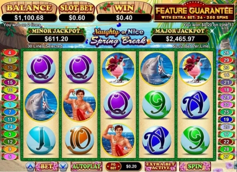 Naughty or Nice Spring Break Real Slot made by RTG