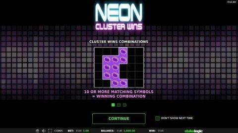 Neon Cluster Wins Real Slot made by