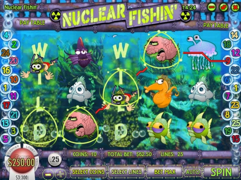 Nuclear Fishin Real Slot made by Rival