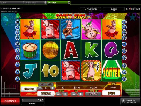 Party Pigs Real Slot made by 888