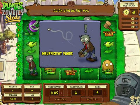 Plants vs. Zombies Real Slot made by Blueprint