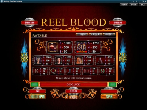 Reel Blood Real Slot made by RTG