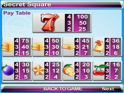 Secret Square Real Slot made by Byworth