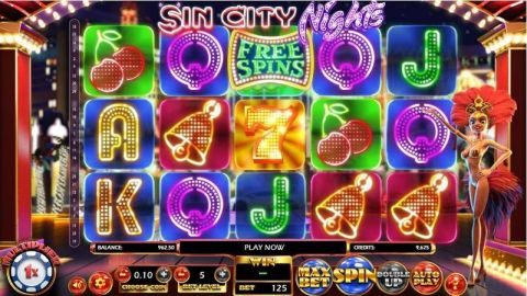 Sin City Nights Real Slot made by Betsoft